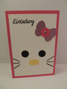 Einladung Kindergeburtstag Mädchen Katze