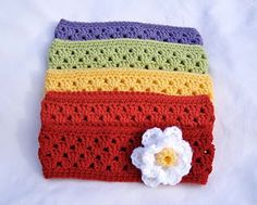 crocheted granny stripe headband/earwarmer pattern