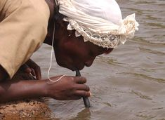 The Lifestraw – an icon of humanitarian product design – is a small cigar-shaped tube that houses some pretty impressive engineering. When water is drawn through the straw, the mechanism inside it purifies water from potential pathogens like typhoid, cholera, dysentery and diarrhea – all before it reaches your lips.
