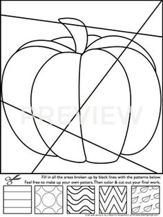 Interactive Coloring Pages for ALL YEAR (w/ Fall Halloween Thanksgiving) Lehrmittel – LehrerPayTeache … Halloween Activities, Halloween Art, Art Drawings For Kids, Art For Kids, Fall Arts And Crafts, October Art, Fall Art Projects, Arte Country, Mandala