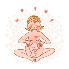 Illustration of Illustration of a happy pregnant woman Vector illustration vector art, clipart and stock vectors. Pregnancy Images, Pregnancy Tips, Mother And Baby, Mom And Baby, Birth Affirmations, Pregnancy Affirmations, Waiting For Baby, Baby Co, After Baby