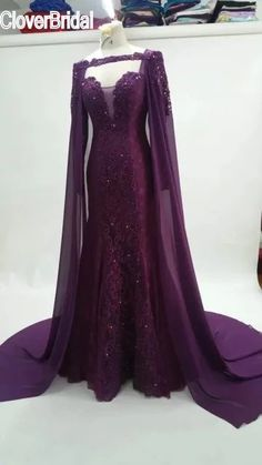 Domineering Mermaid Eggplant Purple Evening Dress With Cloak Celebrity Dresses Chiffon Outlayer Red Carpet Dresses |  Buy online Domineering mermaid eggplant purple evening dress with cloak celebrity dresses chiffon outlayer red carpet dresses only US $155.00 US $155.00. We give you the information of finest and low cost which integrated super save shipping for Domineering mermaid eggplant purple evening dress with cloak celebrity dresses chiffon outlayer red carpet dresses or any product…