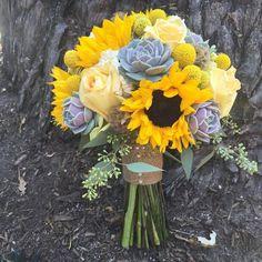 47 Ideas sunflower and succulent wedding bridesmaid bouquets Sunflower Bridesmaid Bouquet, Wedding Bridesmaid Bouquets, Sunflower Bouquets, Daffodil Bouquet Wedding, Sunflower Weddings, Yellow Wedding Flowers, Bridesmaid Ideas, Bridesmaid Dresses, Wedding Dresses