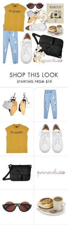 """Despacito"" by fransiscaerica ❤ liked on Polyvore featuring Monki, Loeffler Randall, Foley + Corinna, Umbra and Hachette Book Group"