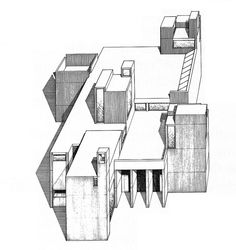 Christian Science Building Exterior Rendering is part of exterior Building Driveways - Image from the archives of the Paul Rudolph Heritage Foundation (www paulrudolphheritagefoundation org) Exterior Rendering, Exterior Design, Exterior Signage, Exterior Colors, Architecture Drawings, Modern Architecture, Architecture Portfolio, Stone Porches, Paul Rudolph