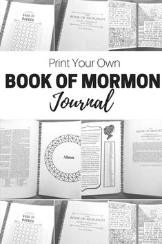 Yesterday I posted about the 60 day Book of Mormon Challenge. Today while I stayed home from church with my sick son, I found this fun new way to journal while you read the scriptures. It is called… Book Of Mormon Scriptures, Lds Books, Mormon Book, Bible, Lds Mormon, Scripture Reading, Scripture Study, Scripture Journal, Print Your Own Book
