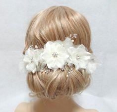{White Flower Headpiece}