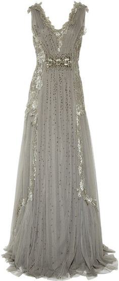 Embroidered Tulle Gown - Alberta Ferretti