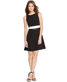 Lauren Ralph Lauren Colorblocked Popover Dress