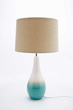 Marcin - Lampe de table vert océan avec prise UE