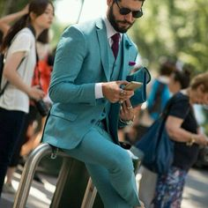 #menssuits#suits#menswear#fashionable#dapper#dandy#lifestyle#luxury#jewelry#cufflinks#ties#shoes#bespoke#sartorial#art#teal