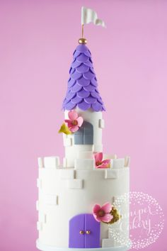 In 6 easy steps, you can transform a simple white layer cake into a castle fit for a fairytale.
