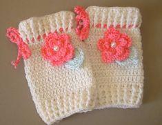 trico polaina infantil   Início > Acessórios > Chapéu > Polaina para bebê em crochê