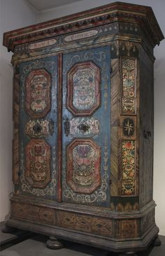 Painted wardrobe, 1770, Vienna, The Austrian Museum of Folk Life and Folk Art