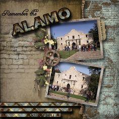 Remember the Alamo - Travel & Vacations - Gallery - Scrap Girls Digital Scrapbooking Forum