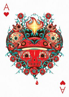 Ace of Clubs by Andreas Preis – Edition One – Playing Arts Unique Playing Cards, Playing Cards Art, Custom Playing Cards, Collaborative Art Projects, Ace Of Hearts, Craft Images, Cool Artwork, Illustrators, Concept Art