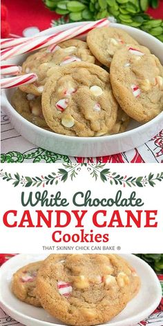 A chewy, buttery cookie filled with white chocolate chips and crushed candy canes. A festive holiday cookie recipe for peppermint lovers!! Holiday Cookie Recipes, Holiday Cookies, Xmas Desserts, Dessert Recipes, Cannoli Recipe, White Chocolate Candy, Candy Cane Cookies, Buttery Cookies, Dessert Bars