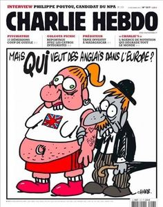 "12 Striking Charlie Hebdo Front Covers - ""But who wants English people in Europe?"", 2007."