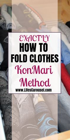 EXACTLY How to Fold Clothes The KonMari Method! Find out how to fold shirts, socks, underwear, pants and more using the Marie Kondo method (from Tidying Up with Marie Kondo). Finally get your drawers organized as you learn to fold the KonMari Way!