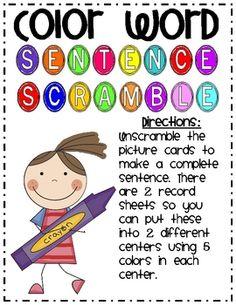1000+ images about Sentence Scrambles on Pinterest ...