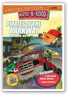 Auto-B-Good: Pirates of the Parkway Special Edition // Arrgh, mateys! Our auto friends are back again with high adventure on the asphalt sea. The real buried treasure here is the great lessons in honesty, joyfulness and cooperation. With 3 brand-new music videos wrapping up each story and a bonus episode on cleanliness, it's more fun than walkin' the plank!