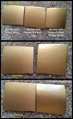 Worbla Tests - Making Worbla Smooth We did some testing with Worbla, Gesso, Mod Podge Spray Sealer, and Plasti-Dip. (a more detailed post on method will come shortly) In your opinion, which yielded...