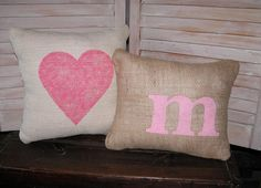PRETTY in PINK Pillows 2 Pink Burlap by FannyElizabethDesign, $29.95#Repin By:Pinterest++ for iPad#