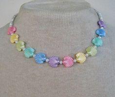 80's Pastel Rainbow Necklace
