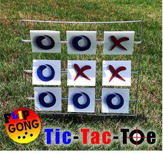 Tic Tac Toe  BB Target  Airsoft Target by FlipGongTargets on Etsy