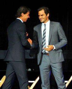 Roger Federer and Rafa Nadal 2016