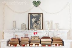 Thoughts from Alice: Vintage Valentine's Mantel + a Bonus Vignette