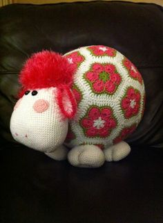 African flower motif crochet