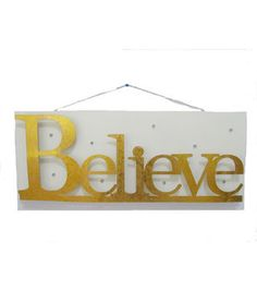Maker's Holiday Wall Decor-Gold Believe