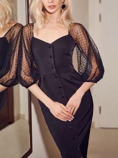 Women's Clothing, Dresses, Midi Dresses $31.99 - Boutiquefeel Simple Dresses, Pretty Dresses, Women's Dresses, Beautiful Dresses, Dress Outfits, Evening Dresses, Fashion Dresses, Party Outfits, Look Fashion