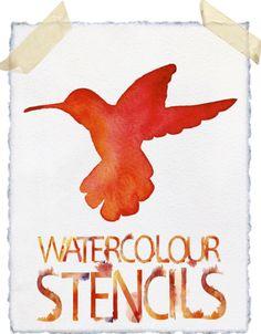 watercolor stencils DIY