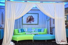 Jenkins Beach - Turquoise - Lime Green - Blow Up - Cabana - Kids Lounge - Mitzvah