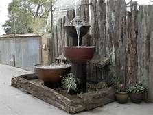 garden water feature utilising copper cylinder - Yahoo Image Search Results Water Garden, Water Features, Fountain, Outdoor Decor, Image Search, Plants, Copper, Water Sources, Water Fountains