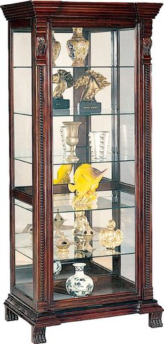 Fresh Glass Curio Display Cabinet