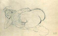 Mood Tonight - 35 Erotic Drawings by Gustav Klimt - Art-Sheep Gustav Klimt, Art Klimt, Arte Horror, Vintage Artwork, Art Studies, Gravure, Erotic Art, Figure Drawing, Figurative Art
