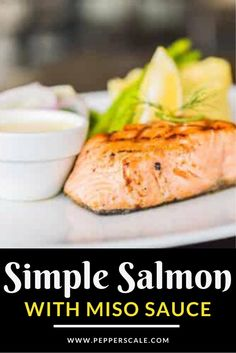 This simple salmon recipe with miso sauce is a restaurant quality meal at home. On the table in 45 minutes, it's a great weeknight or date night meal! #salmon #misosauce #potatoes #broccoli #salmonfilets #seafood Easy Salmon Recipes, Fish Recipes, Meat Recipes, Seafood Recipes, Mexican Food Recipes, Dinner Recipes, Ethnic Recipes, Spicy Grilled Shrimp, Spicy Steak