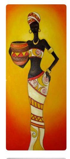 African American Art, African Women, Black Women Art, Black Art, Afrique Art, African Art Paintings, Afro Art, Tribal Art, Fabric Painting