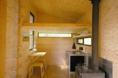 Interior. Signal Shed, by Ryan Lingard Design. Signal Mountain, Oregon. #interior #plywood