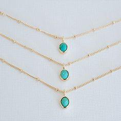 Melanie Auld Multi Strand Turquoise Necklace