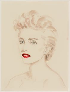 """French artist Annie Kevans celebrates world-renowned fashion designer Jean Paul Gaultier and his most iconic muses in this series of portraits commissioned by curator Thierry-Maxime Loriot for the exhibition """"The Fashion World of Jean Gaultier: From The Sidewalk To The Catwalk""""."""