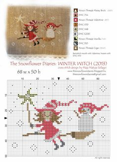 The Snowflower Diaries: NEW FREE PATTERN - THE WINTER WITCH