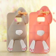 3D Cartoon Bunny Back Cover For Samsung Galaxy S7 S6 edge plus A5 A7 J5 J7 2015 2016 G530 J1 ace J3 Silicon Rabbit Phone Case