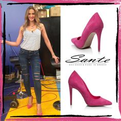 Aleka Kamila in SANTE pumps #santeSS15 #SanteLovers  Shop online: www.santeshoes.com