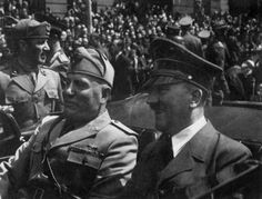 World War I and World War II Related Images: Hitler and Mussolini #hitler #mussolini #ww2