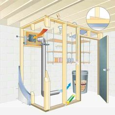 Build a Basement Root Cellar. Storing crops in a passively cooled basement root cellar is one of the most efficient ways to preserve food. Build a Basement Root Cellar. Off The Grid, Root Cellar Plans, Building A Basement, Cellar Design, Homestead Survival, Survival Prepping, Survival Gear, Survival Skills, Preserving Food