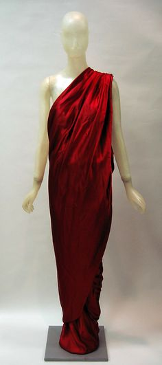 Dress | Halston (American, 1932-1990) | Date: 1984 | Material: synthetic | The Metropolitan Museum of Art, New York